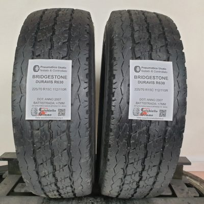 225/70 R15C 112/110R Bridgestone Duravis R630 – 90% +7mm – Gomme Trasporto Estive