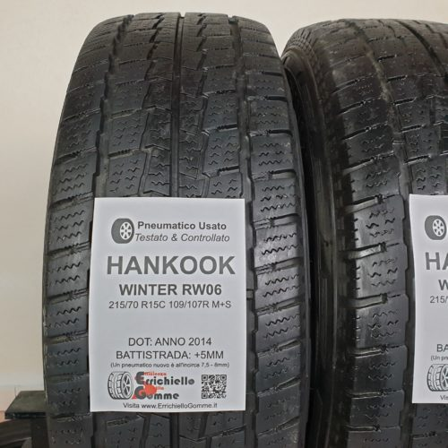 215/70 R15C 109/107R M+S Hankook Winter RW06 – 60% +5mm – Gomme Trasporto Invernali