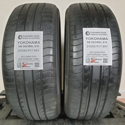 215/55 R17 94V Yokohama DB Decibel E70 – 60% +5mm – Gomme Estive