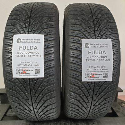 195/55 R16 87V M+S Fulda MultiControl – 70% +6mm – Gomme 4 Stagioni