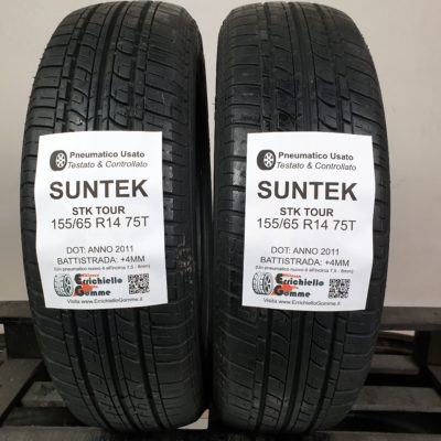 155/65 R14 75T Suntek STK Tour – 50% +4mm – Gomme Estive