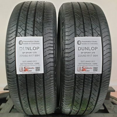 225/60 R17 99H Dunlop SP Sport 270 – 60% +5mm – Gomme Estive
