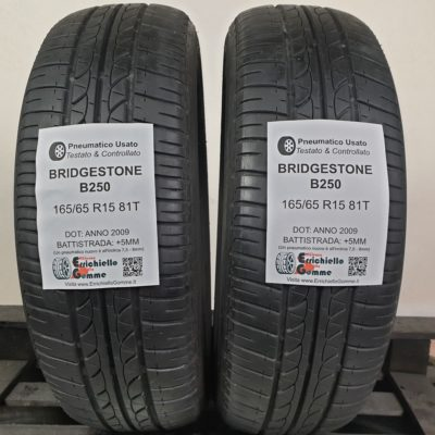 165/65 R15 81T Bridgestone B250 – 60% +5mm – Gomme Estive