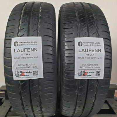 195/60 R16C 99/97H M+S Laufenn Fit Van – 70% +6mm – Gomme Estive Trasporto