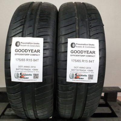 175/65 R15 84T Goodyear EfficientGrip Compact – 60% +5mm – Gomme Estive