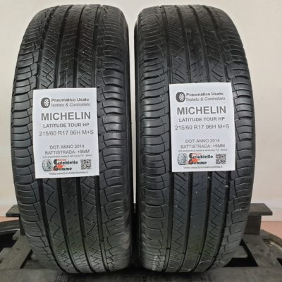 215/60 R17 96H M+S Michelin Latitude Tour HP – 60% +5mm – Gomme Estive