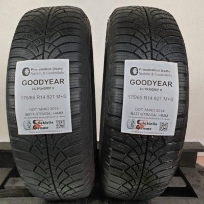 175/65 R14 82T M+S Goodyear UltraGrip 9 – 50% +4mm – Gomme Invernali