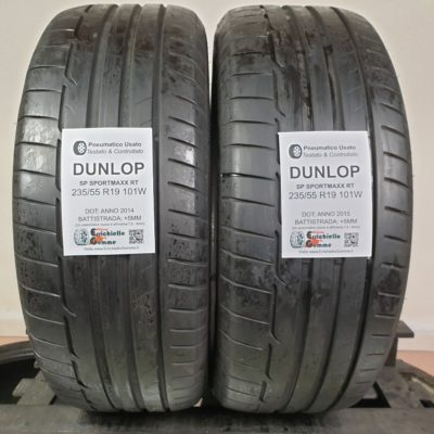 Pneumatici Usati 235/55 R19 101W Dunlop SP SportMaxx RT – 60% +5mm – Gomme Estive