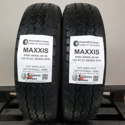 155 R12C 88/86N 8PR Maxxis Steel Radial UE-168 – 60% +5mm – Gomme Estive Trasporto Porter