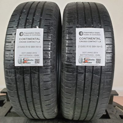 215/65 R16 98H M+S Continental Cross Contact LX – 60% +5mm – Gomme Estive