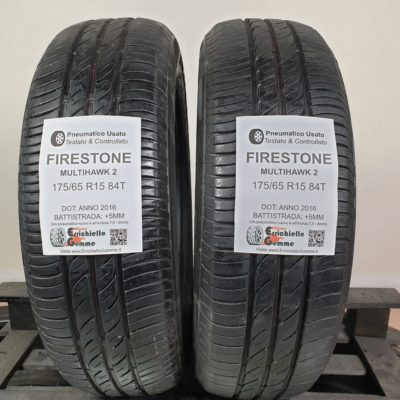 175/65 R15 84T Firestone Multihawk 2 – 60% +5mm – Gomme Estive