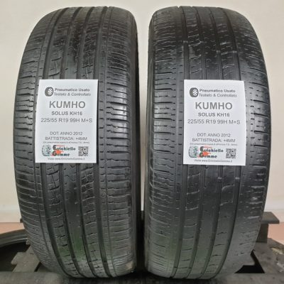 225/55 R19 99H M+S Kumho Solus KH16 – 50% +4mm – Gomme 4 Stagioni
