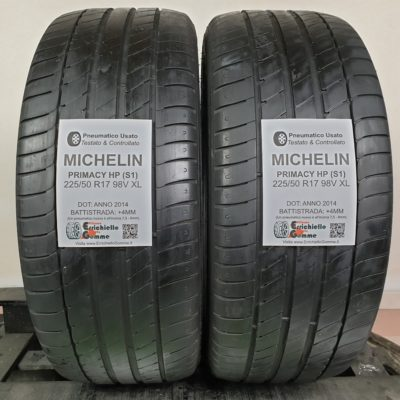 225/50 R17 98V XL Michelin Primacy HP – 50% +4mm – Gomme Estive