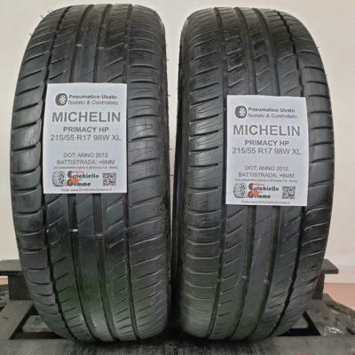 215/55 R17 98W XL Michelin Primacy HP – 70% +6mm – Gomme Estive