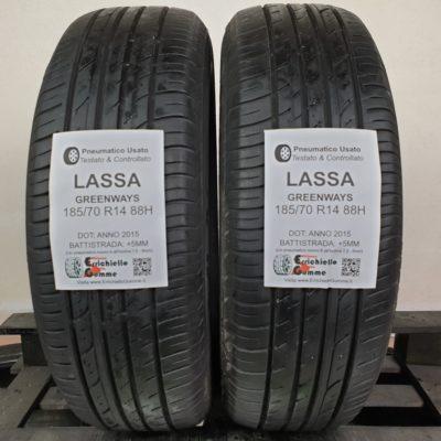 185/70 R14 88H Lassa GreenWays – 60% +5mm – Gomme Estive