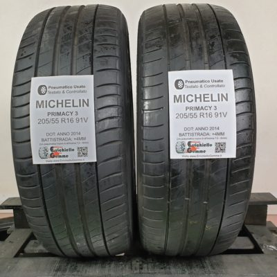 205/55 R16 91V Michelin Primacy 3 – 50% +4mm – Gomme Estive