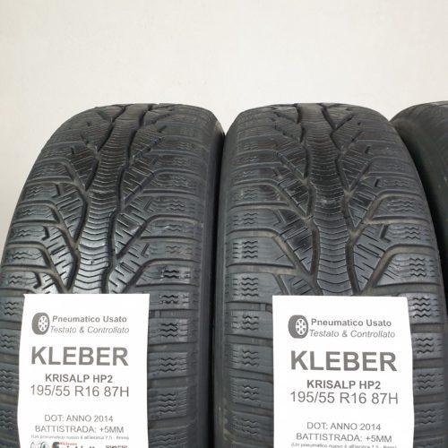 195/55 R16 87H Kleber Krisalp HP2 – 60% +5mm – Gomme Invernali