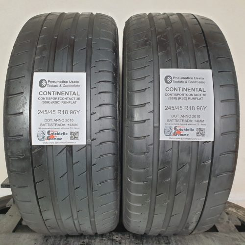 245/45 R18 96Y Continental ContiSportContact 3E (SSR) (RSC) Runflat – 50% +4mm – Gomme Estive