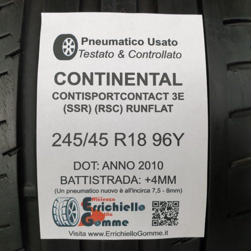 245/45 R18 96Y Continental ContiSportContact 3E (SSR) (RSC) Runflat – 50% +4mm – Gomme Estive