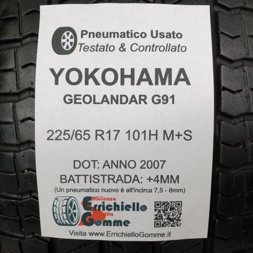 225/65 R17 101H M+S Yokohama Geolandar G91 – 50% +4mm – Gomme Estive