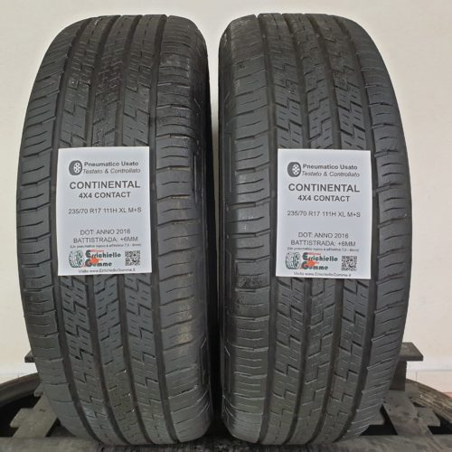235/70 R17 111H XL M+S CONTINENTAL 4×4 Contact – 70% +6mm – Gomme Estive