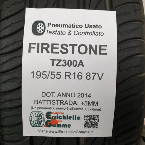 195/55 R16 87V Firestone TZ300A – 60% +5mm – Gomme Estive