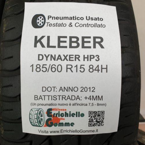 185/60 R15 84H Kleber Dynaxer HP3 – 50% +4mm – Gomme Estive