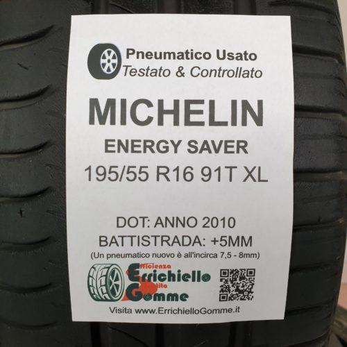 195/55 R16 91T XL Michelin Energy Saver – 60% +5mm – Gomme Estive