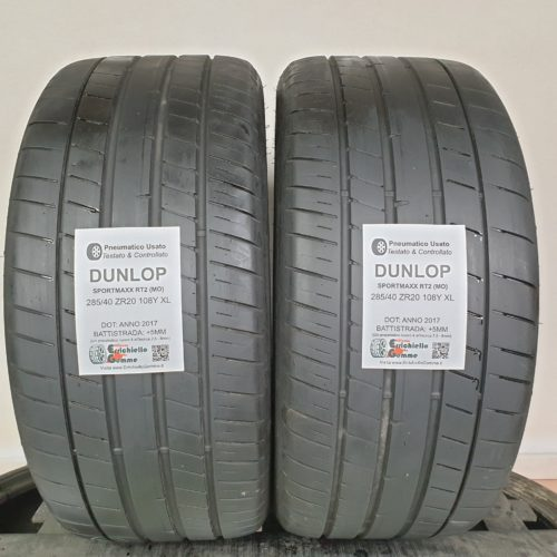 285/40 ZR20 108Y XL Dunlop SportMaxx RT2 (MO) – 60% +5mm – Gomme Estive