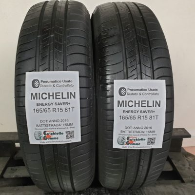 165/65 R15 81T Michelin Energy Saver+ – 60% +5mm – Gomme Estive