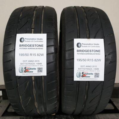 195/50 R15 82W Bridgestone Potenza Adrenalin RE002 – 60% +5mm – Gomme Estive