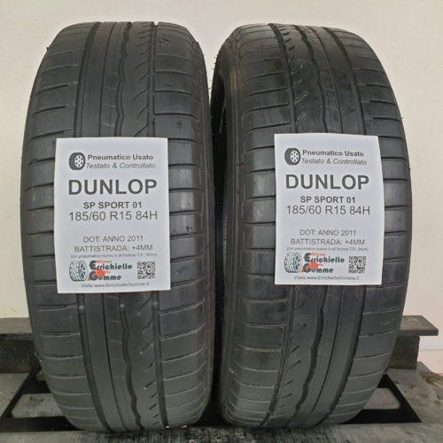 185/60 R15 84H Dunlop SP Sport 01 – 50% +4mm – Gomme Estive
