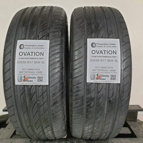 205/55 R17 95W XL Ovation VI-388 Performance DSRT – 60% +5mm – Gomme Estive