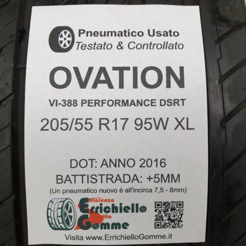 205/55 R17 95W XL Ovation VI-388 Performance DSRT – 60% +5mm – Gomme Estive