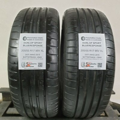 205/55 R17 95V XL Dunlop Sport BlueResponse – 60% +5mm – Gomme Estive