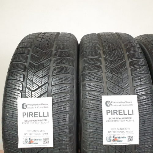 235/60 R18 107H XL M+S Pirelli Scorpion Winter – 60% +5mm – Gomme Invernali