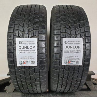 235/55 R18 99Q M+S Dunlop Grandtrek SJ6 (Studless) – 90% +7mm – Gomme Invernali
