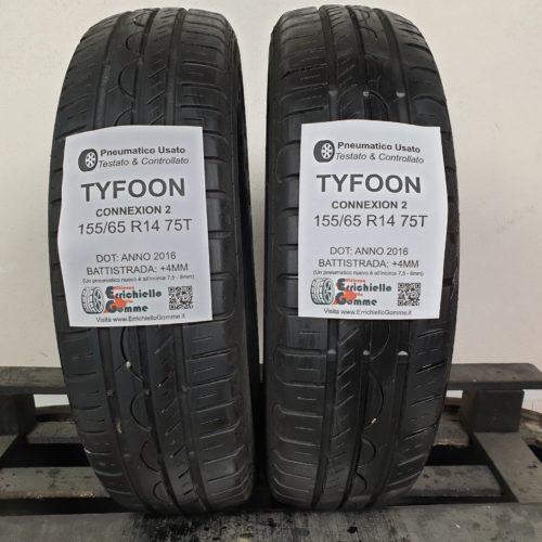 155/65 R14 75T Tyfoon Connexion 2 – 50% +4mm – Gomme Estive