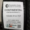 155/65 R14 75T Continental ContiEcoContact 3 – 60% +5mm – Gomme Estive