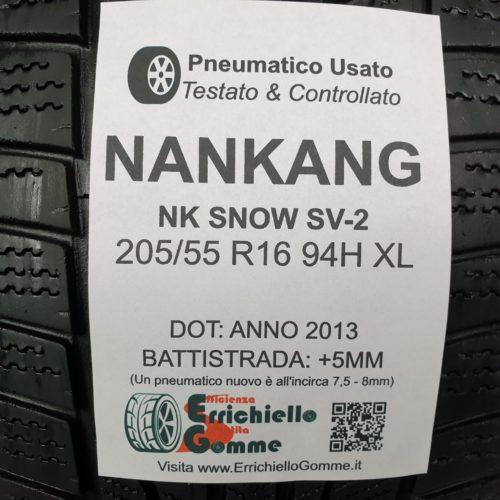 205/55 R16 94H XL Nankang NK Snow SV-2 – 60% +5mm – Gomme Invernali