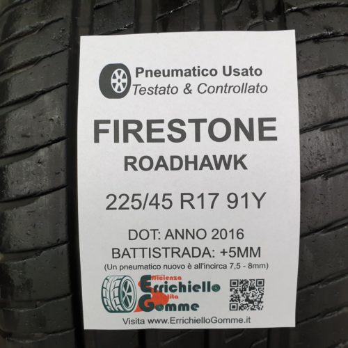 225/45 R17 91Y Firestone RoadHawk – 60% +5mm – Gomme Estive
