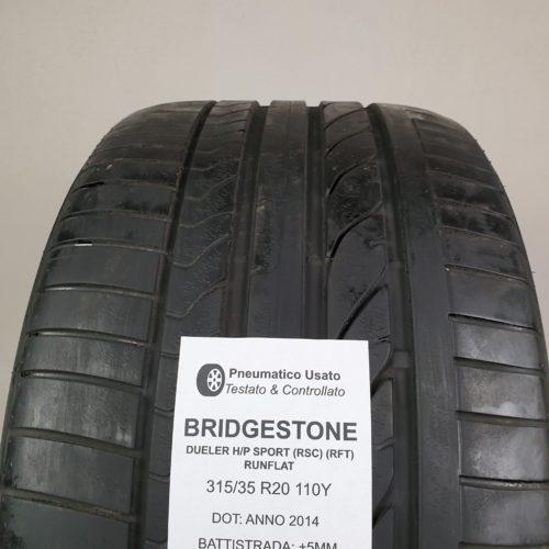 315/35 R20 110Y Bridgestone Dueler H/P Sport (RSC) (RFT) Runflat – 60% +5mm – Gomme Estive