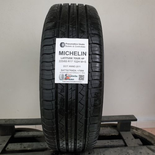 225/65 R17 102H M+S Michelin Latitude Tour HP – 90% +7mm – Gomme Estive