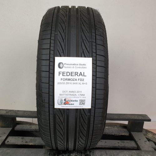 205/55 ZR16 94W XL M+S Federal Formoza FD2 – 90% +7mm Gomma 4 Stagioni