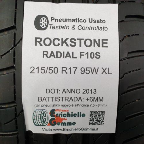 215/50 R17 95W XL Rockstone Radial F10S – 70% +6mm Gomma Estiva
