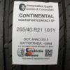 265/40 R21 101Y Continental ContiSportContact 5P –  60% +5mm – Gomma Estiva