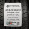 215/55 R17 94V Bridgestone Turanza ER300 – 60% +5mm Gomme Estive