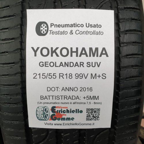 215/55 R18 99V M+S Yokohama Geolandar Suv – 60% +5mm – Gomme 4 Stagioni