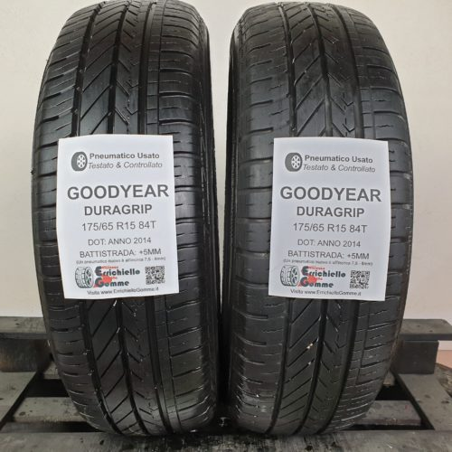 175/65 R15 84T Goodyear Duragrip – 60% +5mm – Gomme Estive