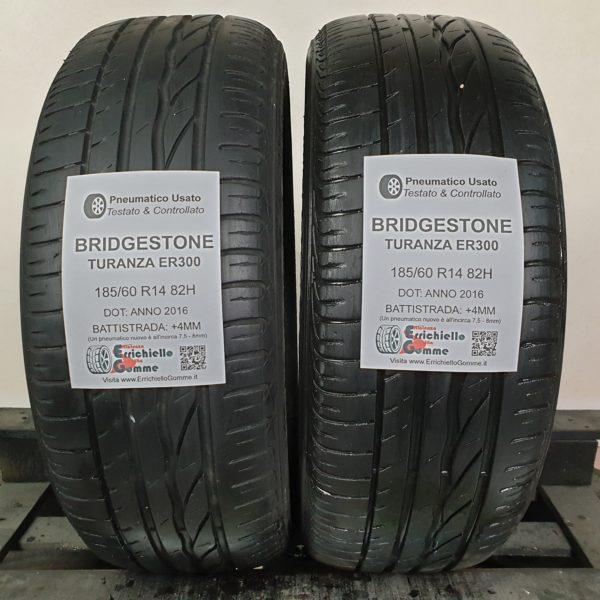 185/60 R14 82H Bridgestone Turanza ER300 – 50% +4mm – Gomme Estive